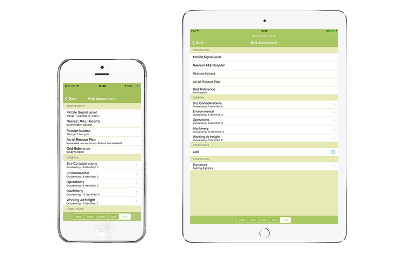 Arb Quotes mobile app risk assessments